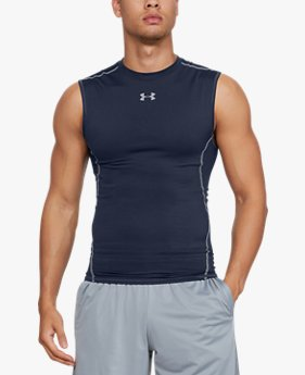 T-shirt Compression UA HeatGear® Armour sans manches pour homme